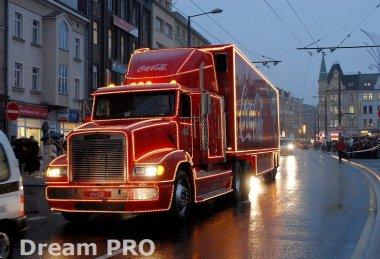 Vánoční kamion Coca Cola