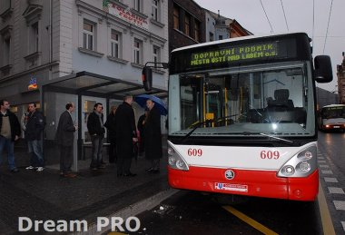 Slavnostní zahájení trolejbusové trati na Střekov