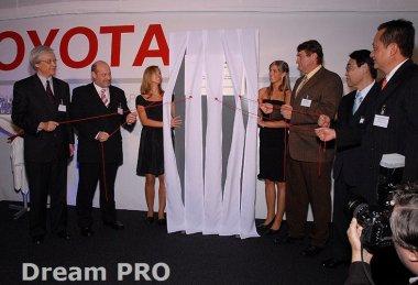 Slavnostní otevření logistického centra Toyota