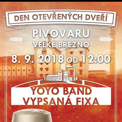 Den otevřených dveří pivovaru Velké Březno 8.9.2018