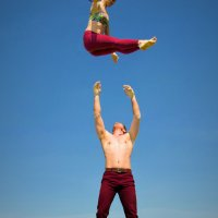 Párová akrobacie - Aurora Acro Dance