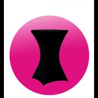 Ubrus černý vč. čepice - 60 cm