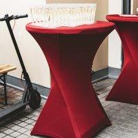 Ubrus vínový vč. čepice - 80 cm