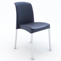 Plastová židle černá