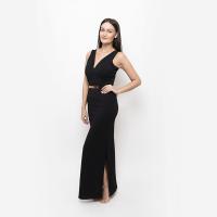 Společenské šaty černé Bond Girl