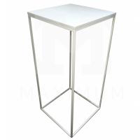 Bistro stůl kovový bílý