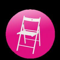 Židle skládací bílá