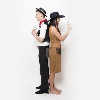 Kovboj kostým (černobílá vesta)