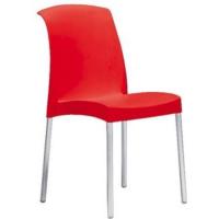 Plastová židle červená