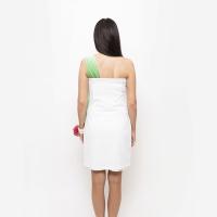 Bílé společenské topové šaty