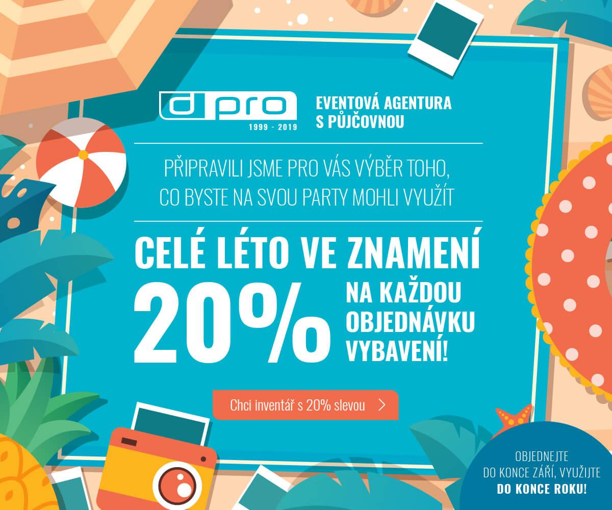 Celé léto ve znamení 20% slevy - Dream PRO