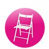Židle bílá skládací - Půjčovna Dream PRO