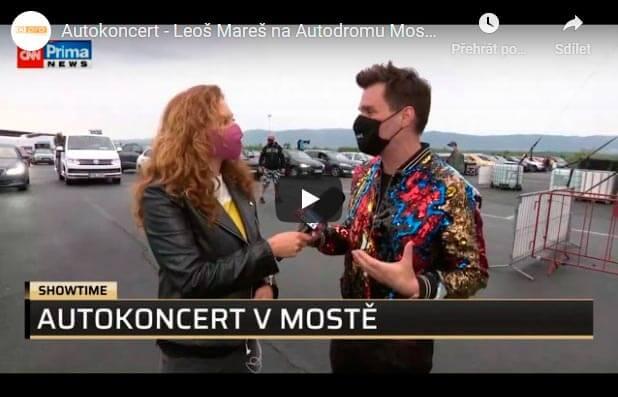 Autokoncert - Leoš Mareš na Autodromu Most - CNN Prima NEWS